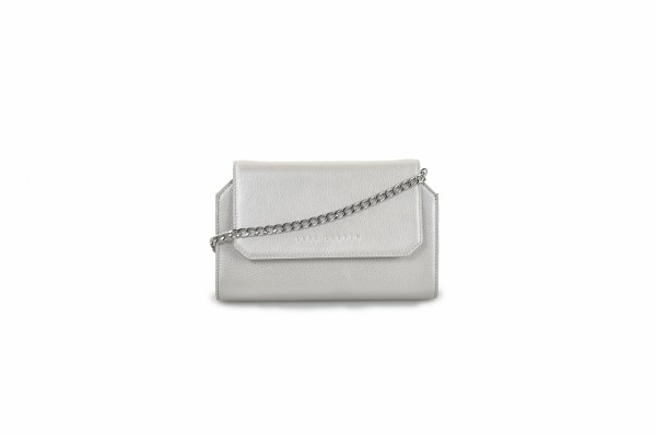 Mila mini bag silver
